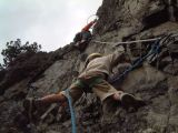 La via ferrata des Lacs Roberts: Le passage surplombant du d�part
