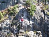 La via ferrata du Puy des Juscles: travers�e du pont