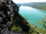 Le regardoir / Lac de Vouglans: depuis le belv�d�re d'arriv�e de la via... S�quence admiration !