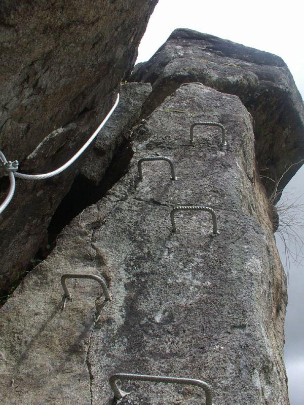 La via Ferrata du haut des gorges du haut cher: lignerolles016.jpg